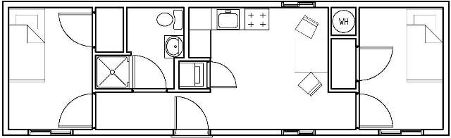Rockies - 2 bedroom living module